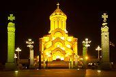 stock photo of trinity  - The Holy Trinity Cathedral of Tbilisi Sameba - JPG