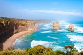 pic of 12 apostles  - The Twelve Apostles a famous collection of limestone stacks off the shore of the Port Campbell National Park by the Great Ocean Road in Victoria Australia - JPG