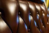 foto of buff  - luxury leather sofa texture brown tone soft focus - JPG