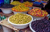 picture of local shop  - Olives and local produce shop Marrakech in Morocco - JPG