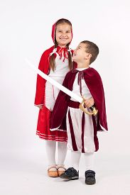pic of little red riding hood  - Red Riding Hood and the little prince with sword - JPG