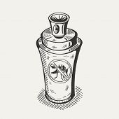 picture of mosquito  - Illustration of spray for mosquitoes on a white background - JPG