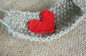 picture of knitting  - Handmade product from fibre hand made basket make from knit knitting heart leisure with art hobby lovely creatve - JPG