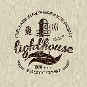foto of lighthouse  - Lighthouse emblem for t - JPG