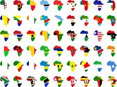 picture of continent  - african flags and continent collection  - JPG