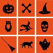 Постер, плакат: Halloween vector set