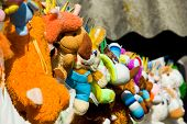 pic of racy  - The photograph captures drying in the sun after washing toys summer in the village - JPG