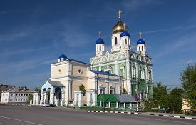 stock photo of ascension  - Ascension Cathedral in the city of Yelets Russia - JPG