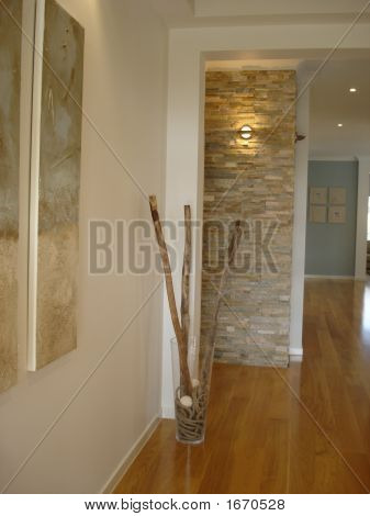 Picture or Photo of Modern house has flair and drama in the entrance hall with a feature ...