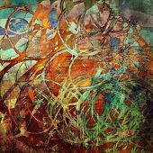 picture of abstract painting  - art abstract grunge graphic texture background - JPG
