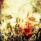 Постер, плакат: Искусство цветочный марочных красочный фон