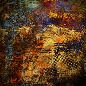 picture of abstract painting  - art abstract grunge graphic paper background - JPG