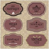 art set of vector vintage frame lable