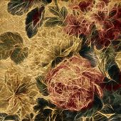 art vintage floral pattern background