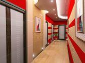 moderne Korridor innere Bild (3D-Rendering)