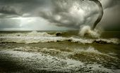 Ozean Tornado Sturm (3D verwendet)
