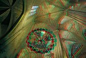 Inside the Cathedral of Santa Eulalia in Barcelona's Barri Gotic district(anaglyph stereo effect.need 3D glasses to view)