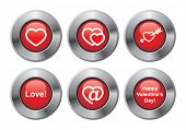 Happy Valentines day button.
