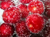 cherry in a mineral water