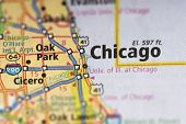 Chicago, Illinois On Map poster