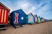 Brighton Beach Bathing Boxes, Melbourne. Brighton Beach Located In The South Of Melbourne. Bathing B poster