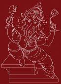 Ganesh, o Deus Hindu dando a bênção