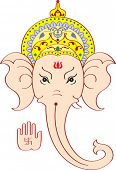 pic of pooja  - Ganesh Face giving Blessing - JPG