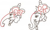 Ganesha with Shri - Shiva letter design