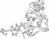 Caligráficos Señor Krishna