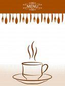 Coffee - Tea Menu Card Template