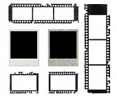 instant photo frames and grunge negative film set