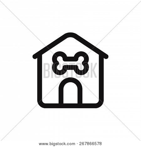 poster of Dog House Icon Isolated On White Background. Dog House Icon In Trendy Design Style. Dog House Vector
