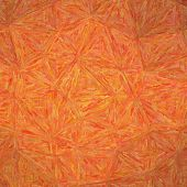 Illustration Of Square Orange Impressionism Impasto Background poster