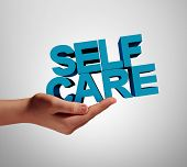 Self Care Individual And Wellness Health Support As A Medicine Or Wellbeing Concept With A Hand Hold poster