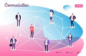 Network Connecting Professional People. Global Communication Teamwork Connection And Networking Tech poster