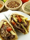 pic of greek food  - Gyros with pork meat - JPG