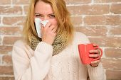 Cold And Flu Remedies. Remedies Should Help Beat Cold Fast. Tips How To Get Rid Of Cold. Woman Feels poster