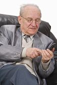 Senior Using A Mobile Phone