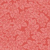 Red Hibiscus Handdrawn Seamless Pattern. Great For Fabric, Wallpaper, And Scrap Booking. Vector Surf poster