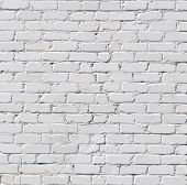 stock photo of stone floor  - A white brick wall - JPG