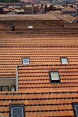 Red Tile Roof Tops In Porto Portugal