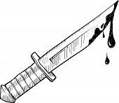 Knife or murder sketch