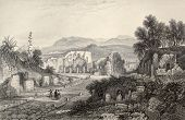 stock photo of luigi  - Antique illustration of Pompei theater - JPG