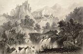 stock photo of luigi  - Antique illustration of Subiaco surroundings - JPG