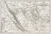 pic of bonaparte  - Rocky mountains old map - JPG