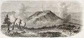 Vulkan in Java Island, Indonesien, alte Abbildung. erstellt von de Bar nach Steiger, veröffentlicht auf l