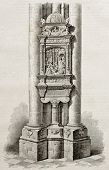 Ex voto from Syderack de Lallaing in Notre-Dame de Saint-Omer, old illustration. By unidentified aut