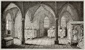 Ines de Castro tomb in Alcobaca monastery, Portugal. By unidentified author, published on Magasin Pi