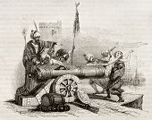 French consul in Algiers (vicar Apostolic Jean Le Vacher) inserted in a cannon and shot as reprisal