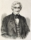 Andre Marie Constant Dumeril old engraved portrait, French zoologist. By unidentified author, publis